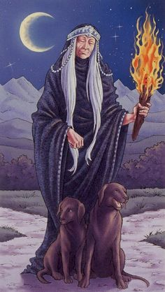 IX Hermit (Universal Goddess Tarot)