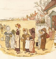 School is over, by Kate Greenaway