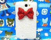 Bling Pearl Bow Samsung Galaxy Note II case, Samsung N7100 Galaxy Note 2 case, Crystal Red Bow Samsung N7100 Galaxy Note 2 case A2. $20.88, via Etsy.