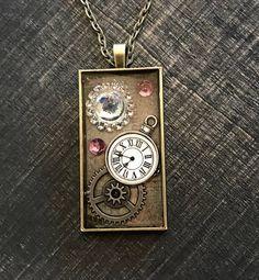 Gear necklace Clock Necklace