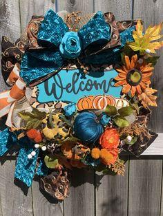 #homedecor #fall #wreath #wreaths #etsy #etsyshop #wreathshop #etsyfinds #thanksgiving #falldecor #thanksgivingdecor #hostessgift #welcomewreath #pumpkins #pumpkinwreath #cheetah #turquoise #teal #orange #floral #frontdoor #interior #design #google #holidaze