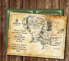 Lord of the ring wedding Invitation by COLORIdiGIO on Etsy