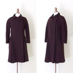 vintage 1950s dark brown Zelinka-Matlick wool coat by inheritedattire