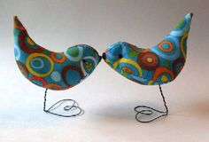 PrimiTive Folkart Circle Of Life Wedding Cake Topper Love Birds Decorations Nursery Decor on Etsy, $49.95