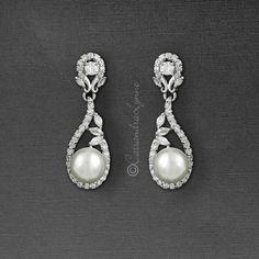 Vintage Rose Earrings 15 Styles-Bridal//Studs//Dangle//Drop//Clip Ons FREE Post!