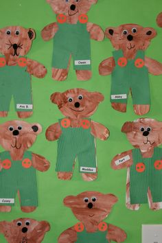 Corduroy art project. The Corduroy books are recommended for the common core.