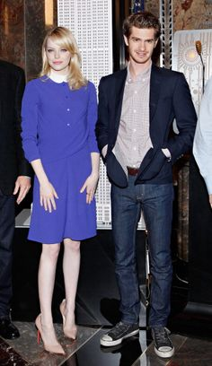 Spiderman's Sweethearts: A Look Back at Emma Stone and Andrew Garfield's Adorably Chic Couple Style: At the Empire State Building on June 25.