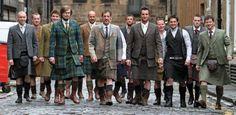 Modernized tweed or tartan kilt suit. More money and a trip to Edinburgh? Scottish Man, Scottish Kilts, Scottish Dress, Scottish Clothing, Scottish Accent, Scottish Culture, Look Fashion, Mens Fashion, Modern Fashion