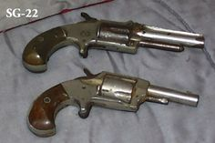 """SGU022 - ABC - $6.60/month - Hand Gun, Revolver, Early 19th c. - 6"""" overall"""