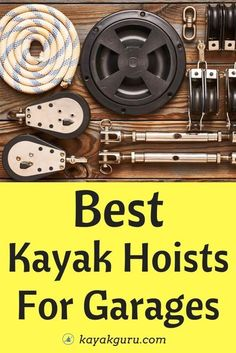 We look at top-rated kayak hoists for your garage ceiling, and ask: What Are Kayak Pulley Systems And How Do they Work? What Features Should I Look For? What Are The Benefits And Drawbacks Of Using Lift How Do You Install Them? Best Fishing Kayak, Fishing 101, Kayak For Beginners, Angler Kayak, Kayaks, Canoes, Kayaking Tips, Ceiling Storage, Kayak Storage