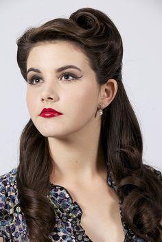 Vintage Hair  Makeup by Monica Jackson www.bellahair.com.au