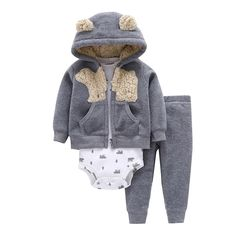 Deals For $8.42, Buy Autumn and winter kids baby boy clothes coat+bodysuit+pant 3 pcs baby girl clothes infant boy clothing set,roupas bebes meninos