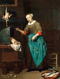 Gabriel Metsu (Dutch, 1629-1667), The Cook