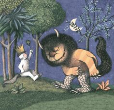 Maurice Sendak Print, King of all Wild Things