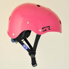 2015 Shred Ready Sesh Helmet / Pink ABS molded shell Sized Molded Liner HOT Occipital Lock Nylon Straps w/ Metal Strap Hangers Duraflex Fasteners