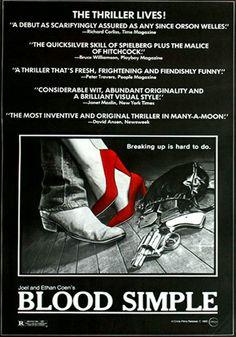 Blood Simple - Sangue facile Un film di Joel Coen. Con Frances McDormand, John Getz, Dan Hedaya, M. Emmet Walsh, Samm-Art Williams. Titolo originale Blood simple. Thriller, durata 97' min. - USA 1984.
