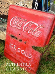 Great Coke Cooler Door - Rusty and perfect! Authentica Classics - picks.  127Yard Sale
