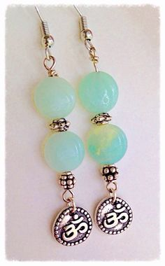 A personal favorite from my Etsy shop https://www.etsy.com/listing/233184631/amazonite-aum-dangle-earrings