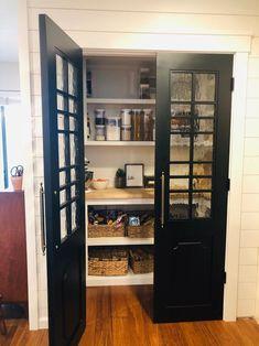Painted Barn Door with Multiple Window Panes 30 | Etsy Kitchen Pantry Doors, Barn Door Pantry, Glass Pantry Door, Single Doors, Double Doors, Room Divider Doors, Sliding Barn Door Hardware, Custom Glass, Window Panes