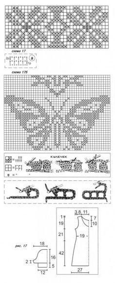 Филейное вязание со схемами