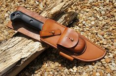 Custom Leather Knife Sheaths | Hawg Hunter Custom Leather Knife Sheath - Dragonthorn Leatherworks