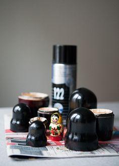 Spray painted maatuska dolls