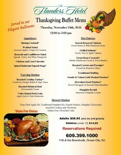 Thanksgiving Buffet Dinner