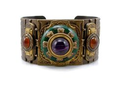 Hey, I found this really awesome Etsy listing at https://www.etsy.com/listing/240455606/egyptian-revival-bracelet-by-patrice