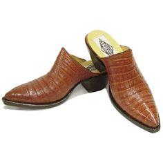 46329f0a9 Smooth Caiman Crocodile Mules (9 Colors) - CABOOTS - Custom Cowboy Boots  Short Cowboy