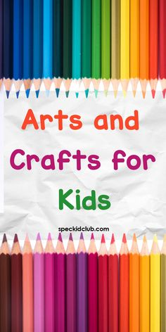 Wake up your child's creativity! Add up colors to their childhood for more fun and excitement! Crafts For Kids To Make, How To Make Paper, Art For Kids, Kids Fun, Kids Crafts, Outdoor Activities For Kids, Infant Activities, Learning Activities, Creative Area
