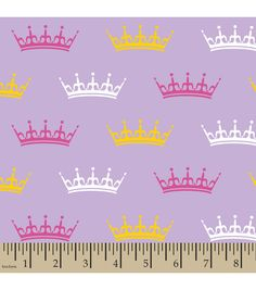 Snuggle Flannel Fabric Crowns Purple