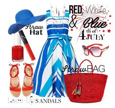 """Let's Celebrate"" by ffendi ❤ liked on Polyvore featuring Phase Eight, Accessorize, Vince Camuto, Sensi Studio, KOON, Essie, NARS Cosmetics, redwhiteandblue and july4th"