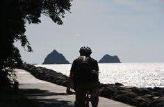 Cycling and Summitting Taranaki, NZ