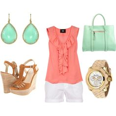 Coral Mint and Wedges #perfection