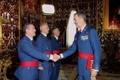 Encuentro del Rey Felipe VI con un grupo de generales de división. 15-09-2016
