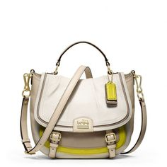 Coach Madison Colorblock Annabelle ($358) ❤ liked on Polyvore