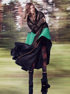vogue-uk-october-2016 Photography: Craig McDean Styled by: Kate Phelan Hair: Orlando Pita Makeup: Diane Kendal Nails: Megumi Yamamoto Model: Sasha Pivovarova