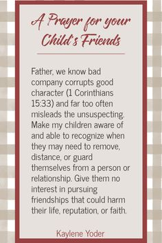 Do you pray for your child's friends? Discover how this Scripture prayer prompt can help you trust God with your child's friendships and for wisdom for your child.    Kaylene Yoder #pray #prayer #scripture #prayerprompts #kayleneyoder Praying For Your Children, Prayers For Children, What A Beautiful Name, Prayers For Strength, Prayer For You, Christian Resources, Child Life, Spiritual Life, Prompt