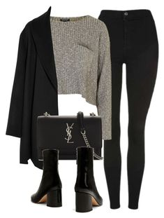 """Untitled #7105"" by laurenmboot ❤ liked on Polyvore featuring Topshop, Agnona and Yves Saint Laurent"