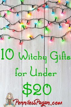 10 Witchy Yule Gifts for Under $20 from PennilessPagan.com #Pagan #Wicca #Wiccan #Witch #Yule #Solstice #Gift #Christmas #Winter