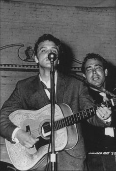Elvis and Bill at Gilmer Junior High - Sep. 26, 1955  Photo by David Topp courtesy Stanley Oberst's Rocking Across Texas