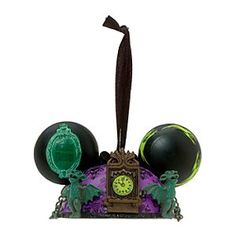 Disney Phantom Manor Ear Hat Decoration | Disney StorePhantom Manor Ear Hat Decoration - Add some spooky memorabilia to your Christmas tree and recall eerie times at the Phantom Manor. Decorated with haunting icons from the Disneyland Paris attraction, it includes a black hanging ribbon.