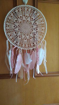 Pink crochet Dreamcatcher