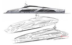 Yacht design sketches