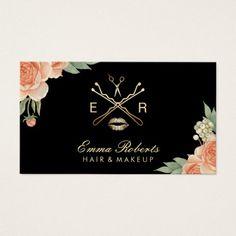 230 best makeup artist business cards images on pinterest in 2018 makeup artist hair stylist vintage floral elegant business card colourmoves