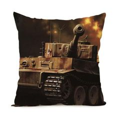 Hot Sale World of Tanks Logo Game Gaming Custom Pillowcase Pillow Sham Throw Pillow Cushion Case Cover Twin Sides Printed