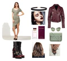 """""""army dress"""" by yasbabhmed ❤ liked on Polyvore featuring Burberry, Prada, The Cambridge Satchel Company, Humble Chic and Dolce&Gabbana"""