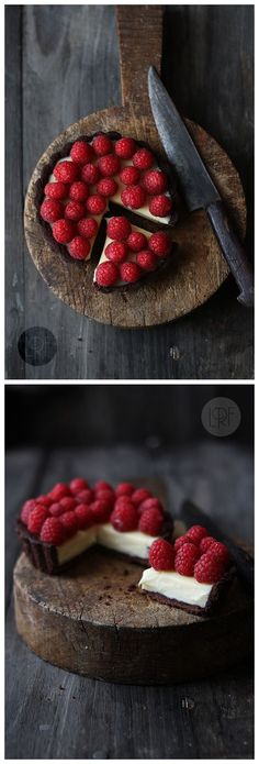 Chocolate, Raspberry and Mascarpone tarts