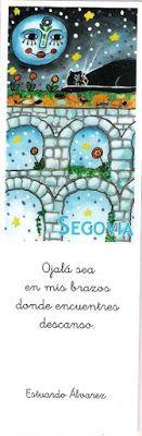 Marcapáginas con el acueducto de Segovia Symbols, Peace, Logos, Art, Dots, Art Background, Icons, Logo, Kunst