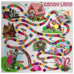 1978 Candyland board game enhanced with thousands of tiny seed beads.